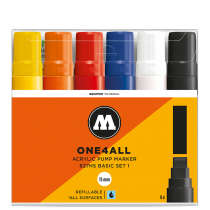 Набор маркеров One4all 627HS Basic set I 6шт 15мм (200459)