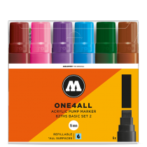 Набор маркеров One4all 627HS Basic Set II 6шт 15мм (200460)