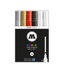 Набор маркеров Molotow CHALK Marker Basic-Set 1 6 штук 4 мм 200472