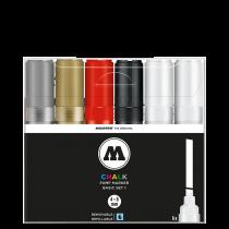 Набор маркеров Molotow CHALK Marker Basic-Set 1 6 штук 4-8 мм 200474