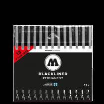 Набор линеров Molotow Blackliner Complete Set 13 штук