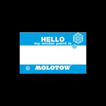 """Стикеры Molotow """"Hello my winter paint is.."""" 10 штук 327883"""