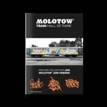 Плакат MOLOTOW TRAIN HALL OF FAME POSTER COLLECTION #20 MOLOTOW AND FRIENDS