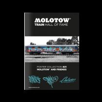 Плакат MOLOTOW TRAIN HALL OF FAME POSTER COLLECTION #21 MOLOTOW AND FRIENDS