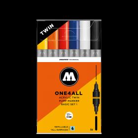 Набор маркеров Molotow ONE4ALL Acrylic Twin Basic Set 1 200488