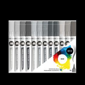 Набор маркеров Molotow Aqua Color Brush Basic Grey Set